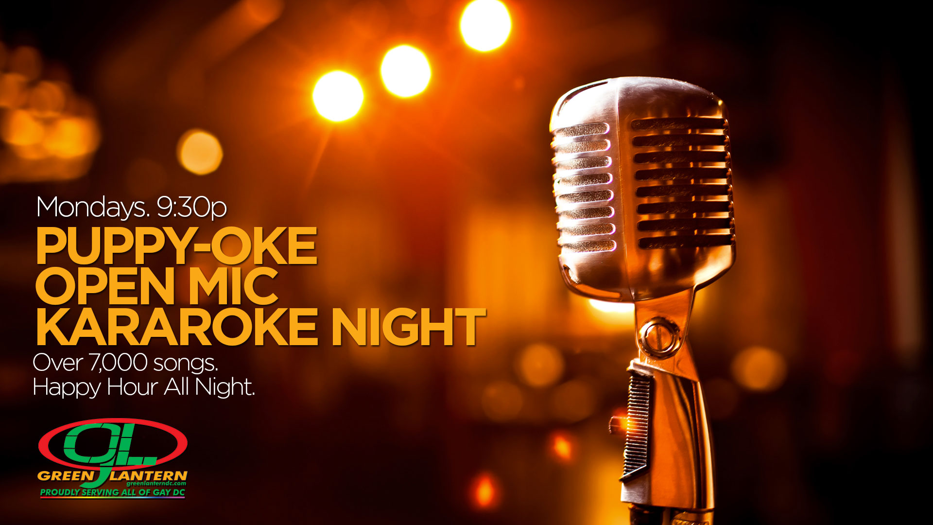 Puppy-Oke: Open Mic Karoke Night